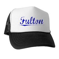 Fulton, Blue, Aged Trucker Hat