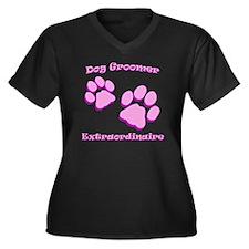 Dog Groomer  Women's Plus Size Dark V-Neck T-Shirt