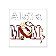 "Akita Mom Square Sticker 3"" x 3"""