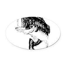 Fishing - Fish Oval Car Magnet