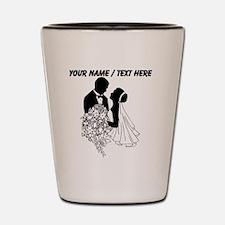 Custom Bride And Groom Shot Glass