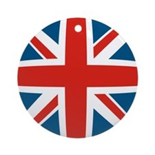 British Flag Ornament (Round)