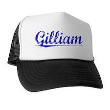 Gilliam, Blue, Aged Trucker Hat