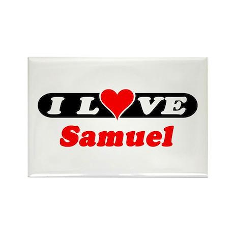 I Love Samuel Rectangle Magnet (100 pack)