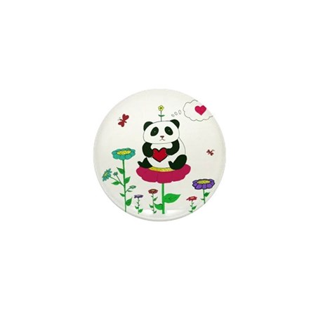 Panda Love Mini Button