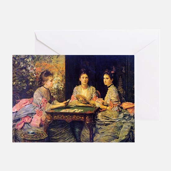 Hearts Are Trumps, Millais Greeting Card
