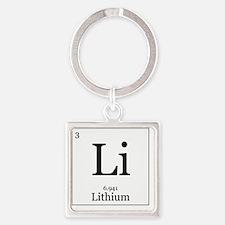 Elements - 3 Lithium Square Keychain