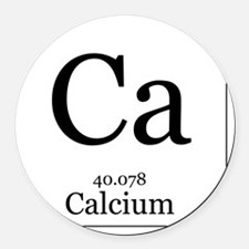 Elements - 20 Calcium Round Car Magnet