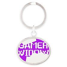 Gamer Widow Oval Keychain