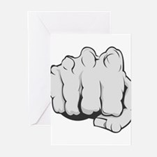 Fist Greeting Cards