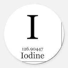 Elements - 53 Iodine Round Car Magnet