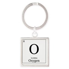 Elements - 8 Oxygen Square Keychain