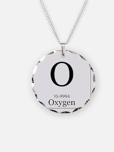 Elements - 8 Oxygen Necklace Circle Charm