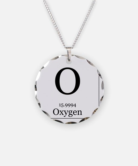 Elements - 8 Oxygen Necklace Circle Charm