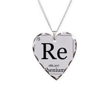 Elements - 75 Rhenium Necklace Heart Charm