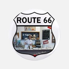 "Route 66 - Devils Rope Museum - Texas 3.5"" Button"