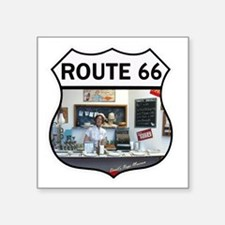 "Route 66 - Devils Rope Muse Square Sticker 3"" x 3"""