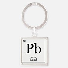 Elements - 82 Lead Square Keychain