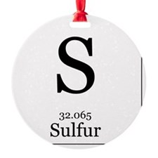 Elements - 16 Sulfur Ornament