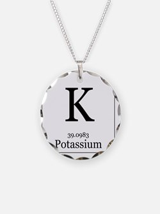 Elements - 19 Potassium Necklace Circle Charm