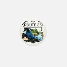Discover History - Route 66 - Blue Wha Mini Button