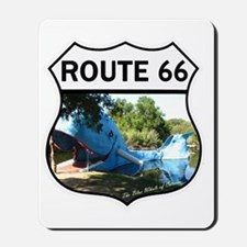 Discover History - Route 66 - Blue Whale Mousepad