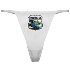 Discover History - Route 66 - Blue W Classic Thong