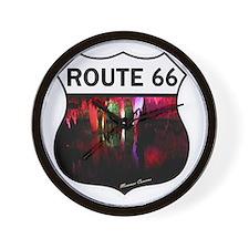 Route 66 - Meramec Caverns - Missouri Wall Clock