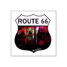 """Route 66 - Meramec Caverns  Square Sticker 3"""" x 3"""""""