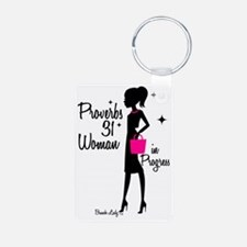Proverbs 31 woman in progr Keychains