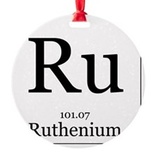 Elements - 44 Ruthenium Round Ornament