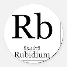 Elements - 37 Rubidium Round Car Magnet