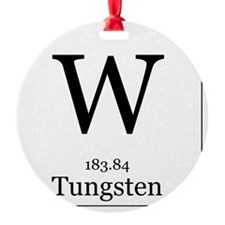 Elements - 74 Tungsten Round Ornament