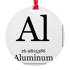 Elements - 13 Aluminum Round Ornament