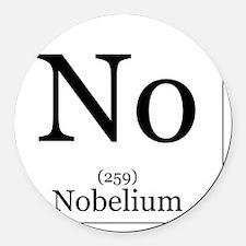 Elements - 102 Nobelium Round Car Magnet