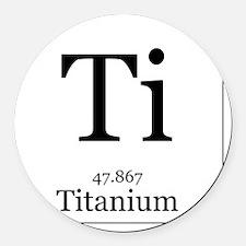 Elements - 22 Titanium Round Car Magnet