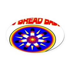 FRY BREAD BABY Oval Car Magnet