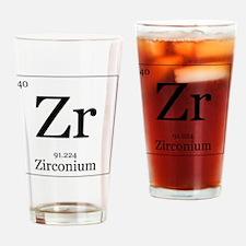 Elements - 40 Zirconium Drinking Glass