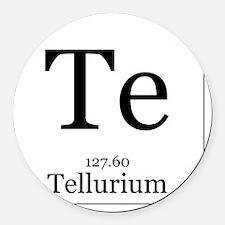 Elements - 52 Tellurium Round Car Magnet