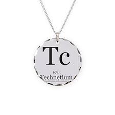 Elements - 43 Technetium Necklace Circle Charm