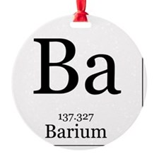 Elements - 56 Barium Ornament