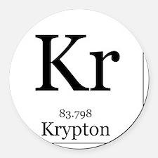 Elements - 36 Krypton Round Car Magnet