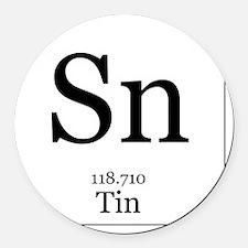 Elements - 50 Tin Round Car Magnet