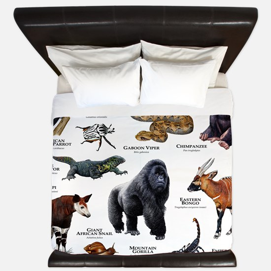 Wildlife of the African Rainforests King Duvet