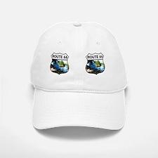Route 66 - Blue Whale Mug Baseball Baseball Cap