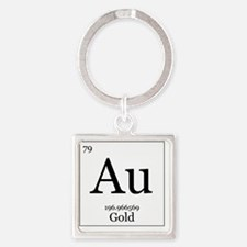 Elements - 79 Gold Square Keychain