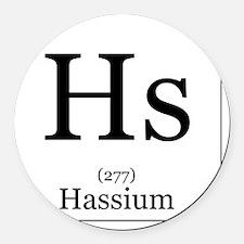 Elements - 108 Hassium Round Car Magnet