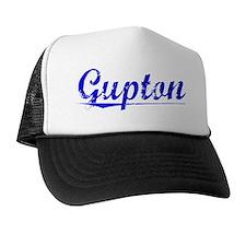 Gupton, Blue, Aged Trucker Hat