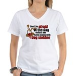 Dog Slobber Women's V-Neck T-Shirt