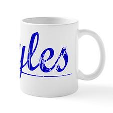 Hayles, Blue, Aged Mug